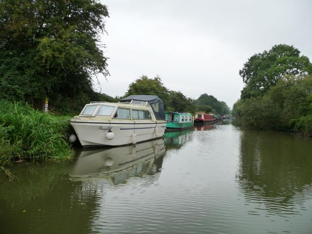 Boats moored against the towpath