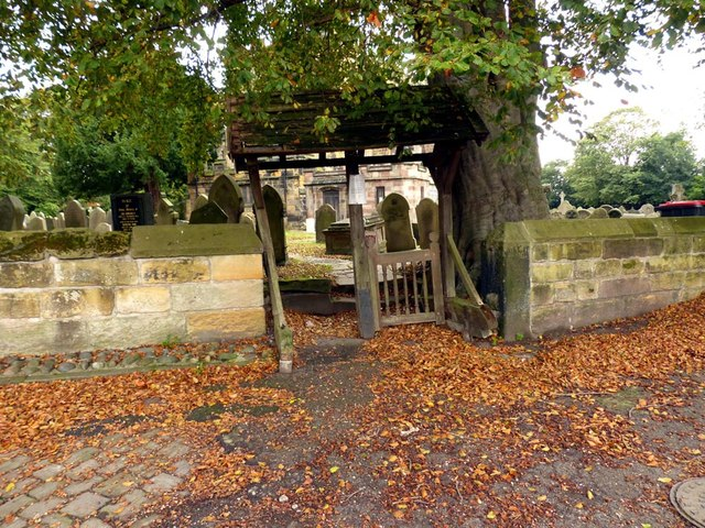 Lytchgate. Sefton Church