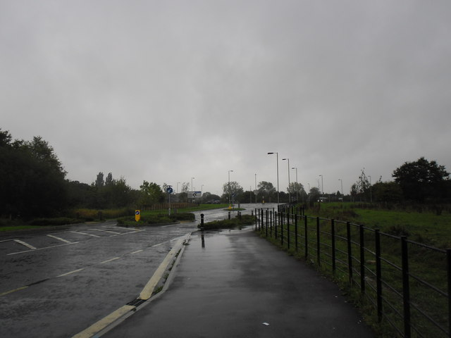 Looking up Adanac Drive towards the M271 access roundabout