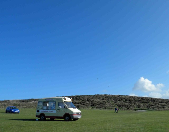 Summer in October with the Godrevy ice cream van