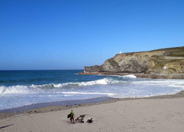 Surf's up at Portreath beach