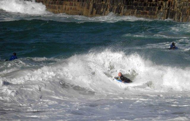 Portreath surfer