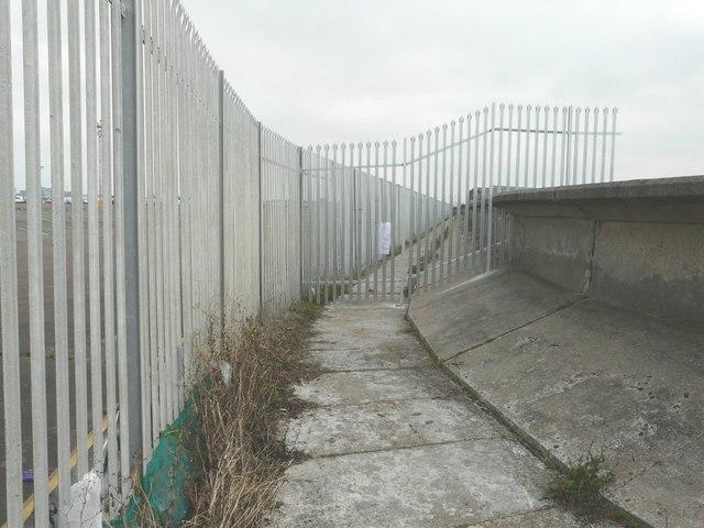 Temporary closure of coastal footpath