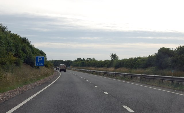 A303 eastbound, Parking in half a mile