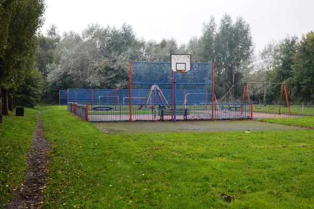 Play area beside the old railway