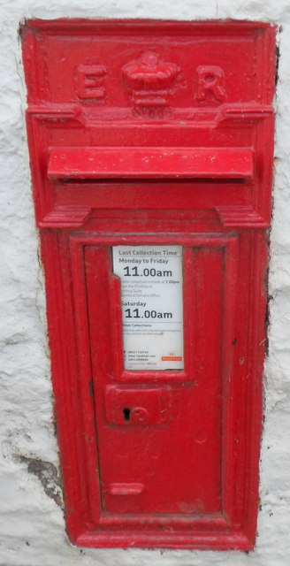 Edwardian postbox in the wall of the Nags Head pub in Peterchurch