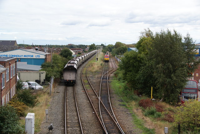 Freight sidings by Bridge Foot Industrial Estate