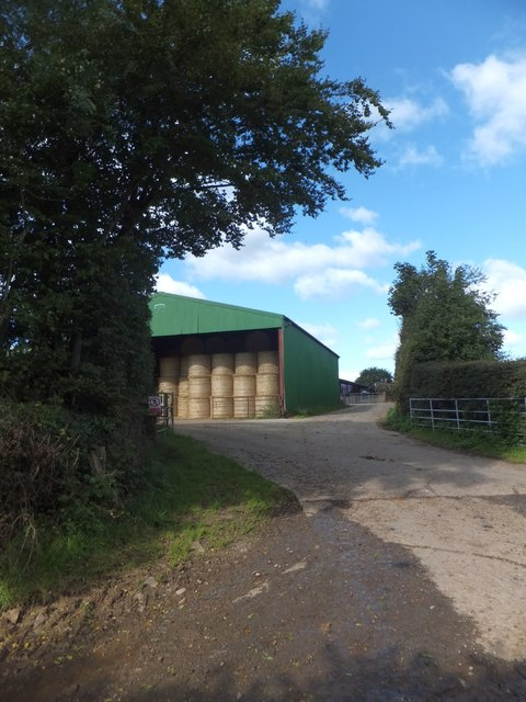 Large barn near Coombe, west of Witheridge