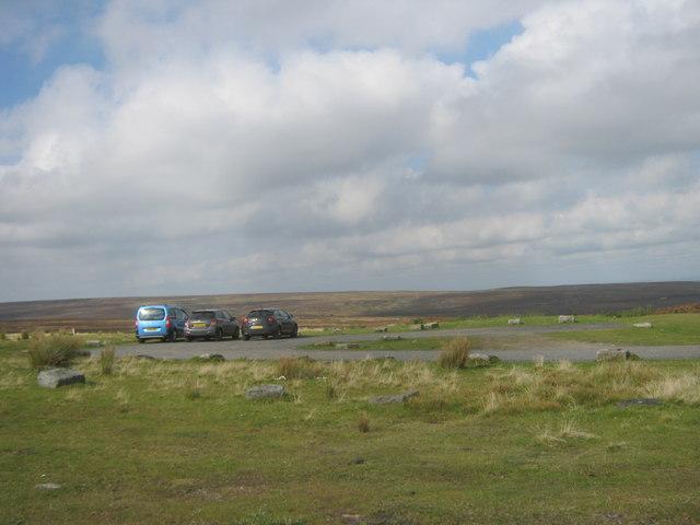 Car park and picnic area at Hawkburn Head