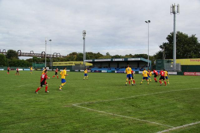 Football match at Warrington Town