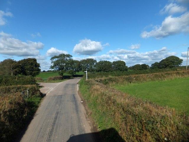 Five Crosses junction, near Nomansland
