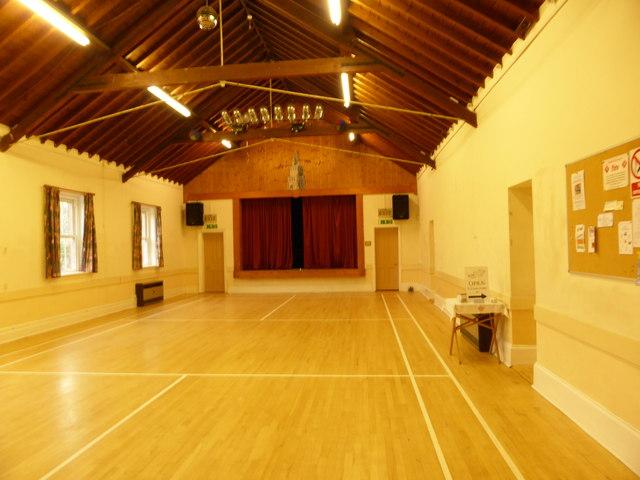 Village hall interior