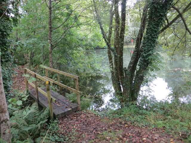 Footbridge over stream at Lower Cowley