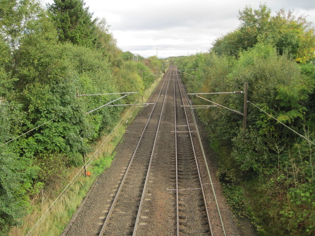 Howwood 1st railway station (site), Renfrewshire