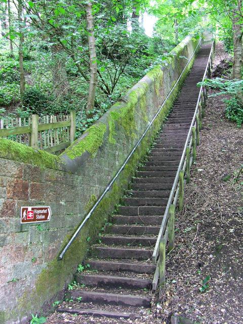 Steps to Magdala Crescent
