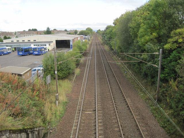 Milliken Park 1st railway station (site), Renfrewshire