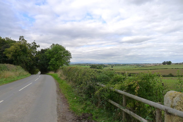 Thorpe Road at the top of Bull Hill