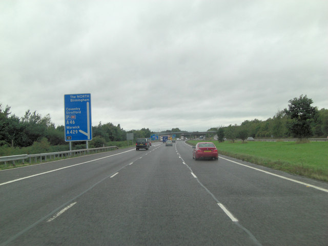 M40 north of Old Barn Cottage