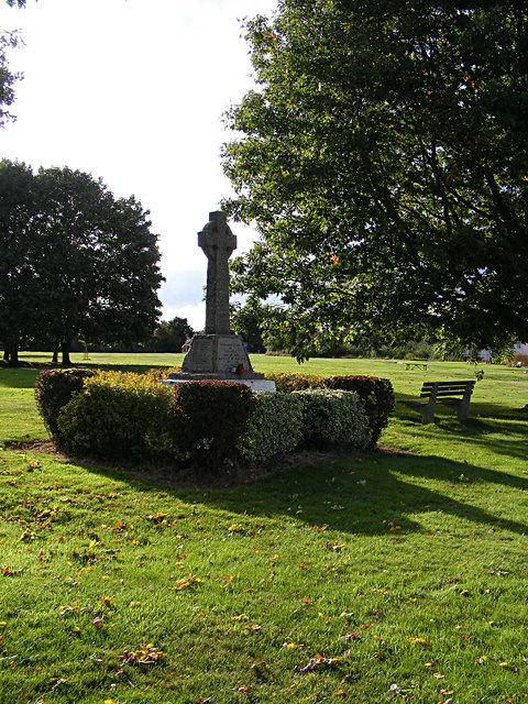 Newton War Memorial on Newton Green