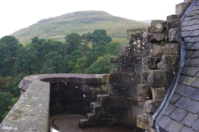 Castle Campbell parapet
