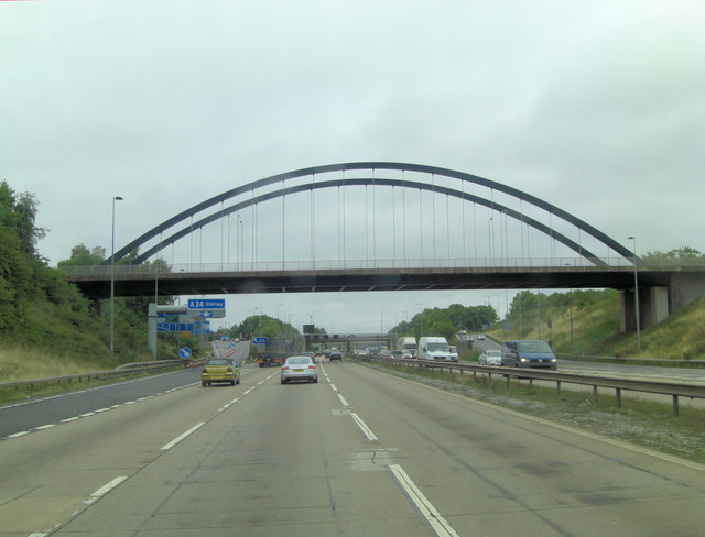 M42 overbridge giving access to Blythe Valley Park
