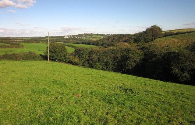 Wooded valley below Furslow Farm