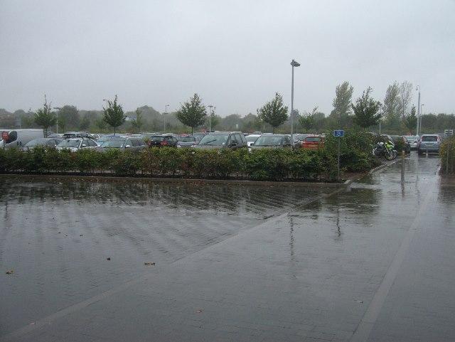 Very damp OS car park