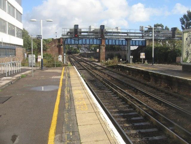 End of platform 1 - Southampton Central