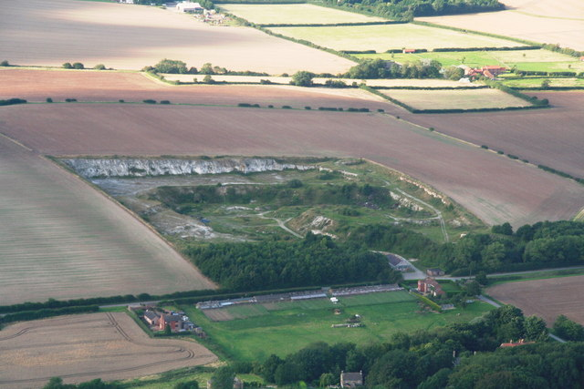 The old chalk pit, North Ormsby: aerial 2012