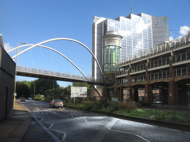 Footbridge to the bus station