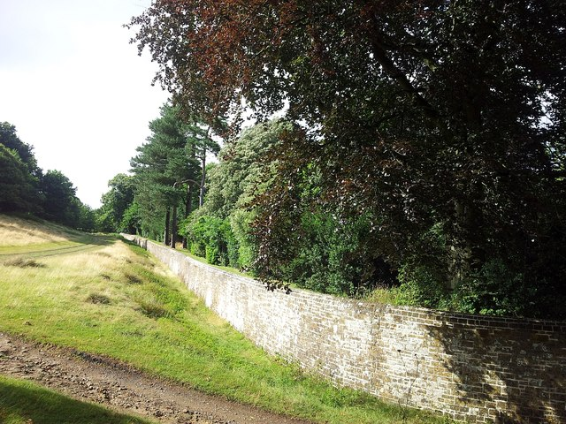 Wall to the north of Petworth House