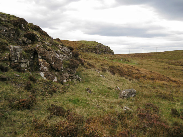 Rocky outcrops on Ben Vic Askill