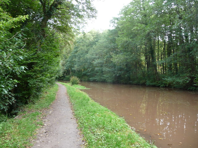 Bend on the Mon. & Brec. canal near Llangattock