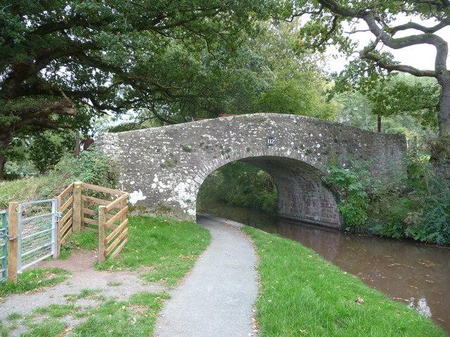 Bridge 112 on the Mon. & Brec, canal near Llangattock