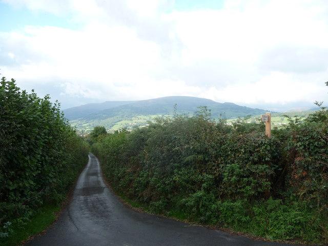 View towards Crickhowell from Ty Mawr farm east of Llangattock