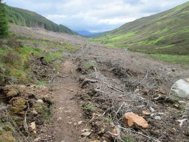 Path above the Gleann Cia-aig