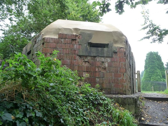 Restored pillbox, from the canalside