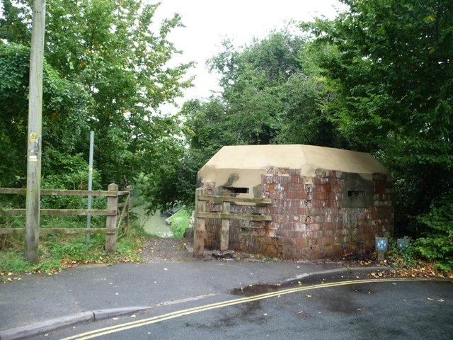 Restored pillbox, from the roadside