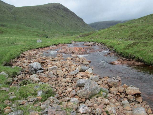 The remote Gleann Cia-aig valley