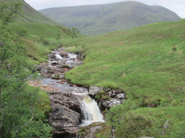 Waterfalls in the Gleann Cia-aig valley
