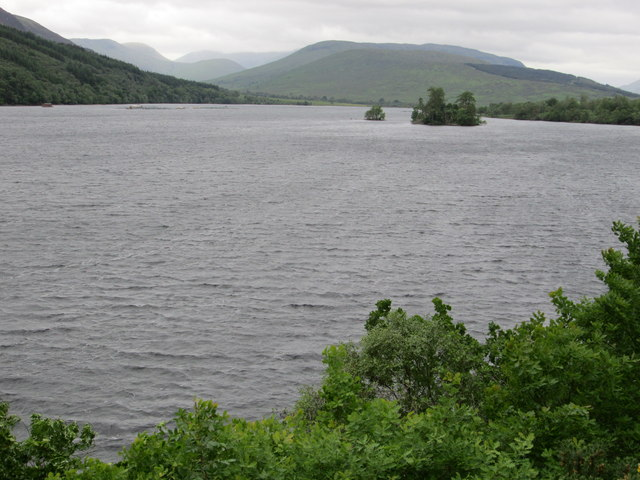 Look back at the two islands, Loch Arkaig