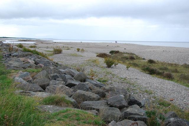 Beach and sea defences at Tugnet