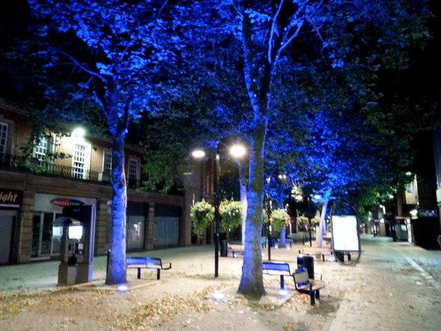 Bridge Street in blue