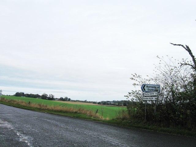 Road junction, B978