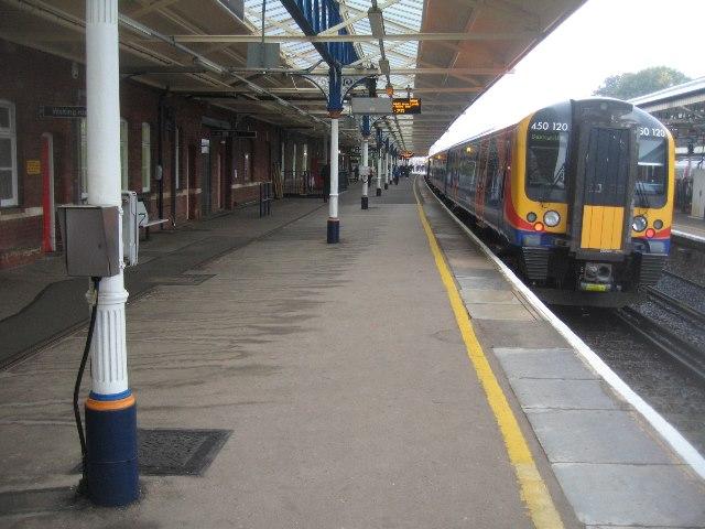 View along platform 1 - Basingstoke
