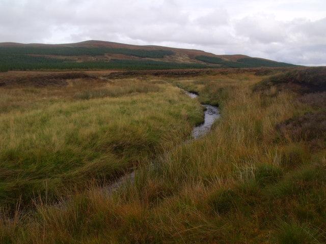 Feith a' Chuill cutting a swathe through peat blanket near Crask Inn, Sutherland