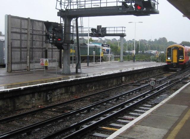 Arriving at platform 2