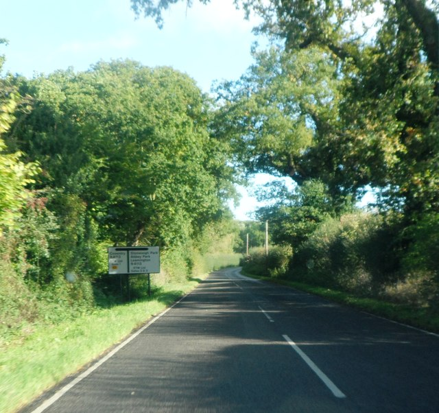 Near the end of the B4115
