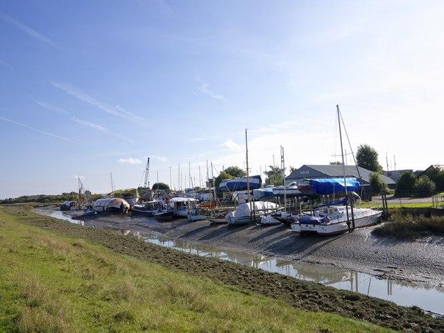 Low Tide at Faversham Creek Iron Wharf Boat Yard