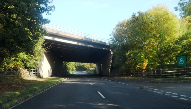 The A46 crosses St Martin's Road